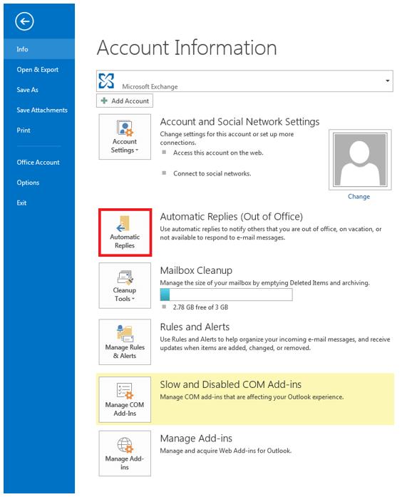 """Captura de pantalla del apartado """"Información"""" de la pestaña """"Archivo"""""""