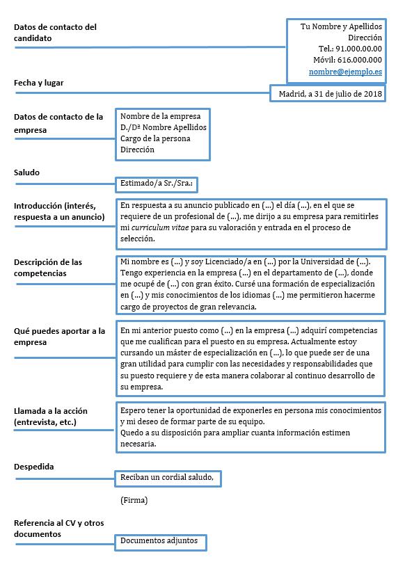 La Carta De Presentación Consejos De Redacción Y Plantilla